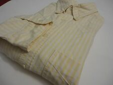 BANANA REPUBLIC YELLOW STRIPED MENS LONG SLEEVE COTTON DRESS SHIRT SIZE L
