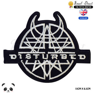 Amulet-Disturbed-Punk-Embroidered-Iron-On-Sew-On-Patch-Badge-For-Clothes-etc