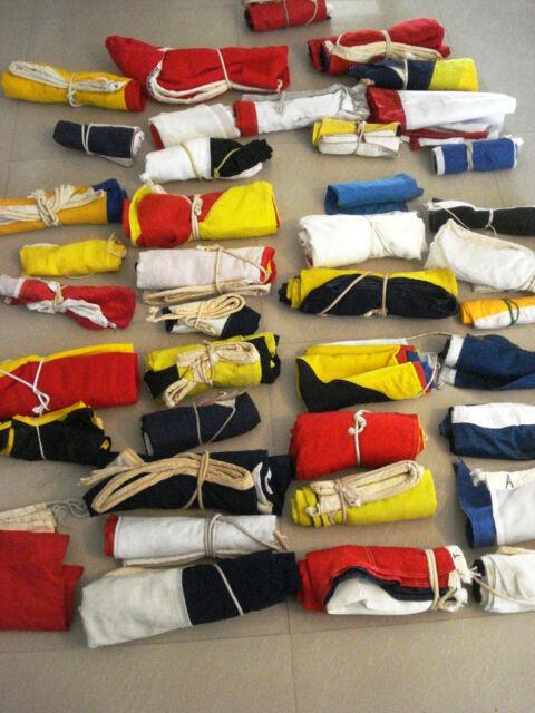 VINTAGE Naval Signal Flag SET -  SHIP'S 100% ORIGINAL - Set of Total 40 flag (B)