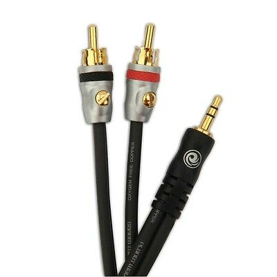 Planet Waves PW-MP-05 Dual RCA to 1/8 Stereo Cable ipod cable FREE U.S. Shipping