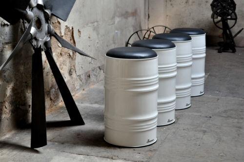 Hocker Barhocker aus 60 Liter Fass Ölfass Blechfass Metallfass Farbe nach Wahl
