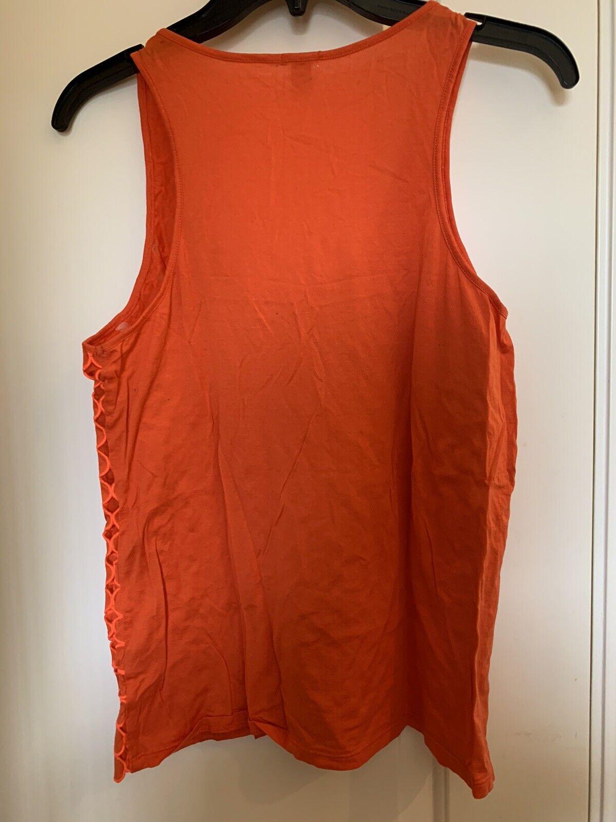 J Crew Womens Eyelet Dot Tank Top Orange Cotton S… - image 3