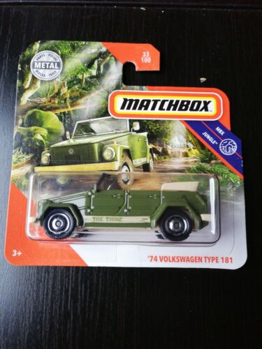 Matchbox 74 volkswagen Type 181 semiorugas VW Jungle 33//100 1:64 2019 mattel