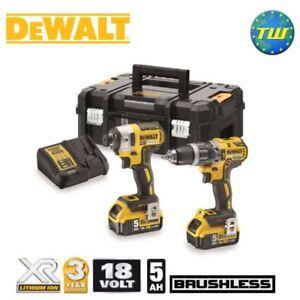 DeWalt-DCK266P2T-18V-BRUSHLESS-Twinpack-Combi-Drill-amp-Impact-Driver-2x-5-0Ah-XR