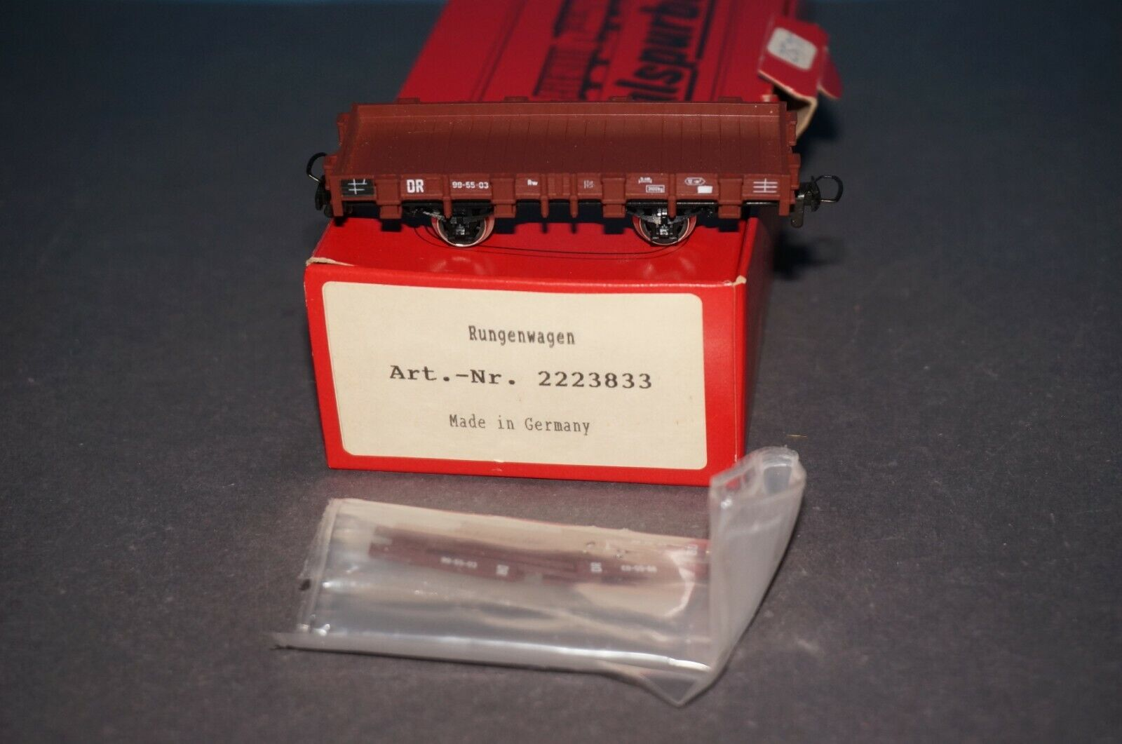 RF19] Bemo   Zeuke H0m-H0e Vagón silverforma Núm 2223833 - Neuw. + Embalaje