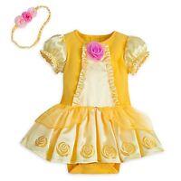 Disney Store Belle Princess Dress Up Baby Costume Beauty & Beast Halloween