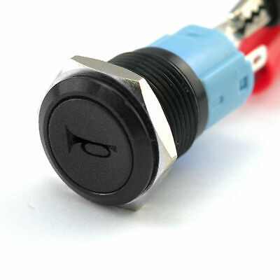 12mm Boat LED IP67 Waterproof 12V Momentary Metal Switch Horn Push Button