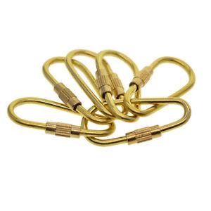 Carabiner D-Ring Key Chain Clip Snap Hook Karabiner Camping Keyring