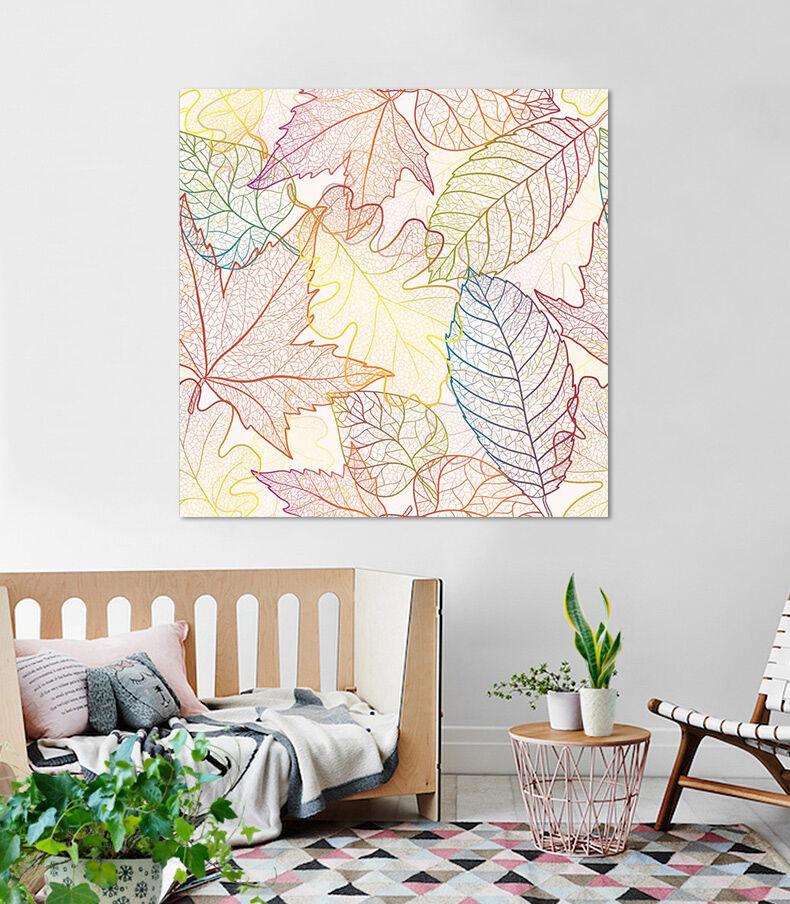 3D Farbe Linie Bltter 624 Fototapeten Wandbild BildTapete AJSTORE DE Lemon