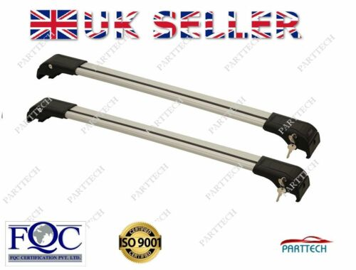 VW TOURAN onwards 2010 LOCKABLE ALUMINIUM CROSS BARS RACK 75 KG LOADING GREY
