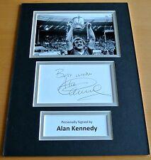 Alan Kennedy SIGNED autograph A4 Photo Mount Display Liverpool Football & COA