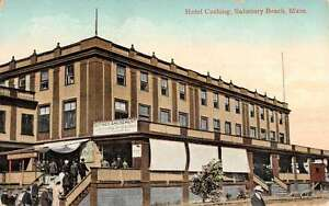 Image Is Loading Salisbury Beach Machusetts Hotel Cushing Exterior Antique Postcard
