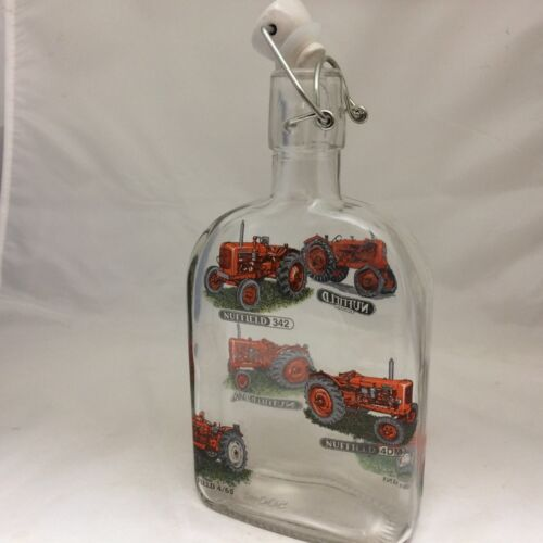 NUFFIELD  SLOE GIN FLIP TOP BOTTLE CERAMIC STOPPER  6 DIFFERENT TRACTOR