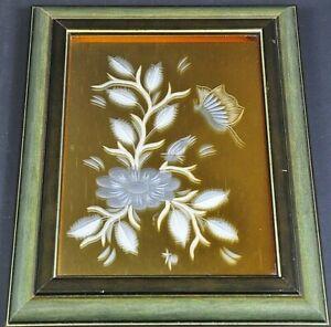 Aufrichtig Wmf Bild Hinterglas Glasschliff Schmetterling Blumen Vintage Design 50er 11db5 Zier- & Vitrinenobjekte