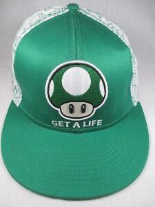d44f9eb424e Get A Life Super Mario Nintendo Fitted L XL Baseball Cap Hat Great ...