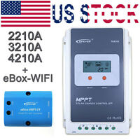 Epever 20/30/40a Mppt Solar Controller Charge Wifi Serial Server+ebox-wifi