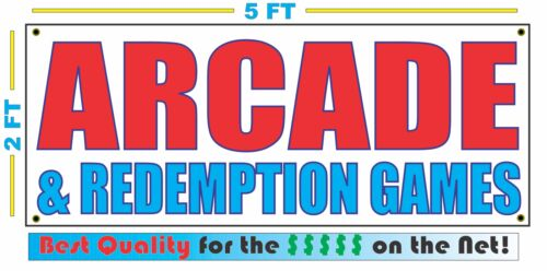 ARCADE /& REDEMPTION GAMES Banner Sign NEW Larger Size Best Quality for The $$$$