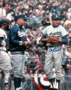 Ron-Perranoski-Signed-8X10-Vintage-Photo-Autograph-Dodgers-w-Manager-Auto-COA