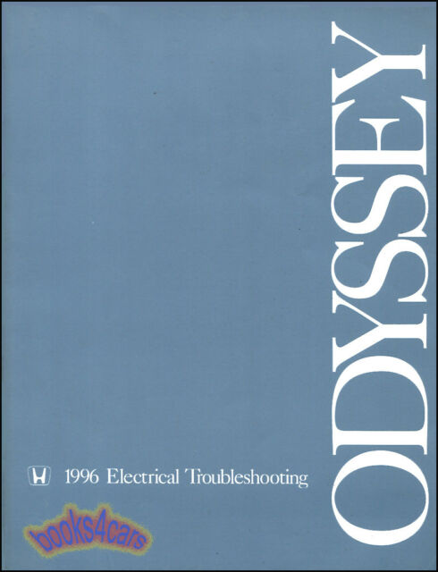 Odyssey 1996 Honda Shop Manual Service Repair Electrical Wiring Diagrams Book