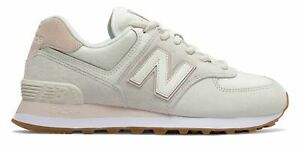 New Balance Women's 574 Shoes Off White