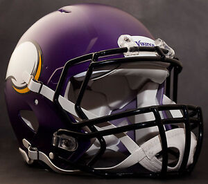 0b804ad69cf Image is loading CUSTOM-MINNESOTA-VIKINGS-NFL-Riddell-Speed-AUTHENTIC- Football-