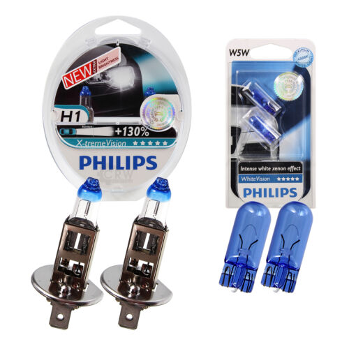 SET Philips X-treme Vision 130/% 2x h1 White Vision Xenon Ultimate w5w