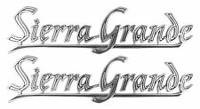 1969-1972 GMC Pickup Truck Rear Fender Bed Emblem Script Sierra Grande Pair