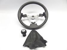 New Genuine Suzuki Swift 2010>on Sports Black Leather Steering Wheel + Gear Knob