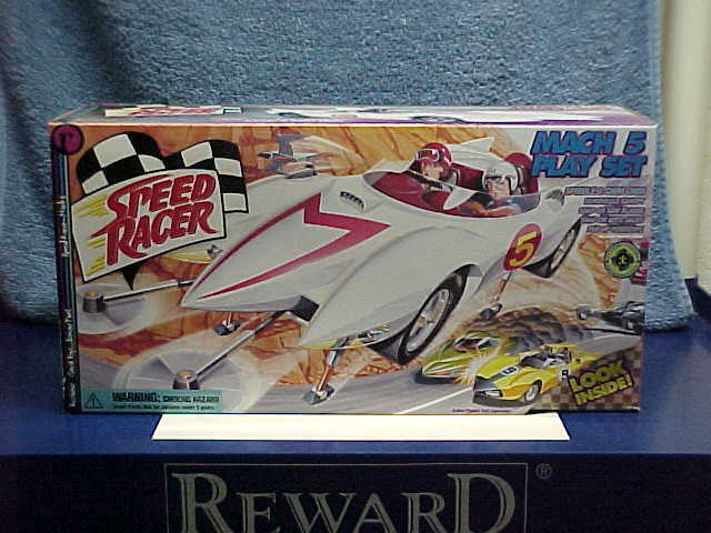 1999 asunto SPEED RACER MACH 5 FIRST RACE Conjunto de Juego Sellado de dibujos animados japoneses de TV Coche