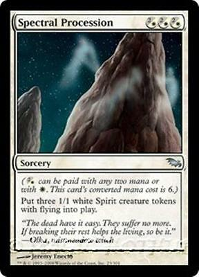 SPECTRAL PROCESSION Shadowmoor MTG White Sorcery Unc