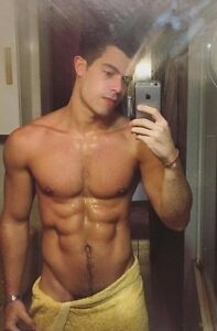 Shirtless Male Muscular Handsome Hunk Wet Guy In Towel PHOTO 4X6 ... 4f46b66d7