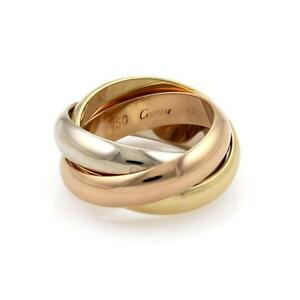 e865f955bd5d Cartier Trinity 18k Tricolor Gold 4.5mm Rolling Band Ring Size EU 48 ...