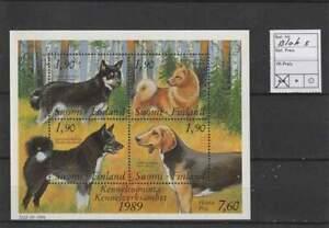 Finland postfris 1989 MNH block 5 - Honden / Dogs (S2907)
