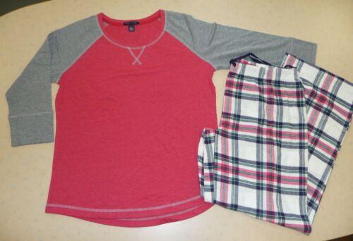 Nouveau Femme TOMMY HILFIGER Femme Pyjamas Rouge /& Gris Tailles UK 6-8 jusqu/'à 16-18