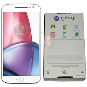 BNIB Motorola Moto G4 Plus XT1642 16GB White Dual-SIM Factory Unlocked 4G GSM