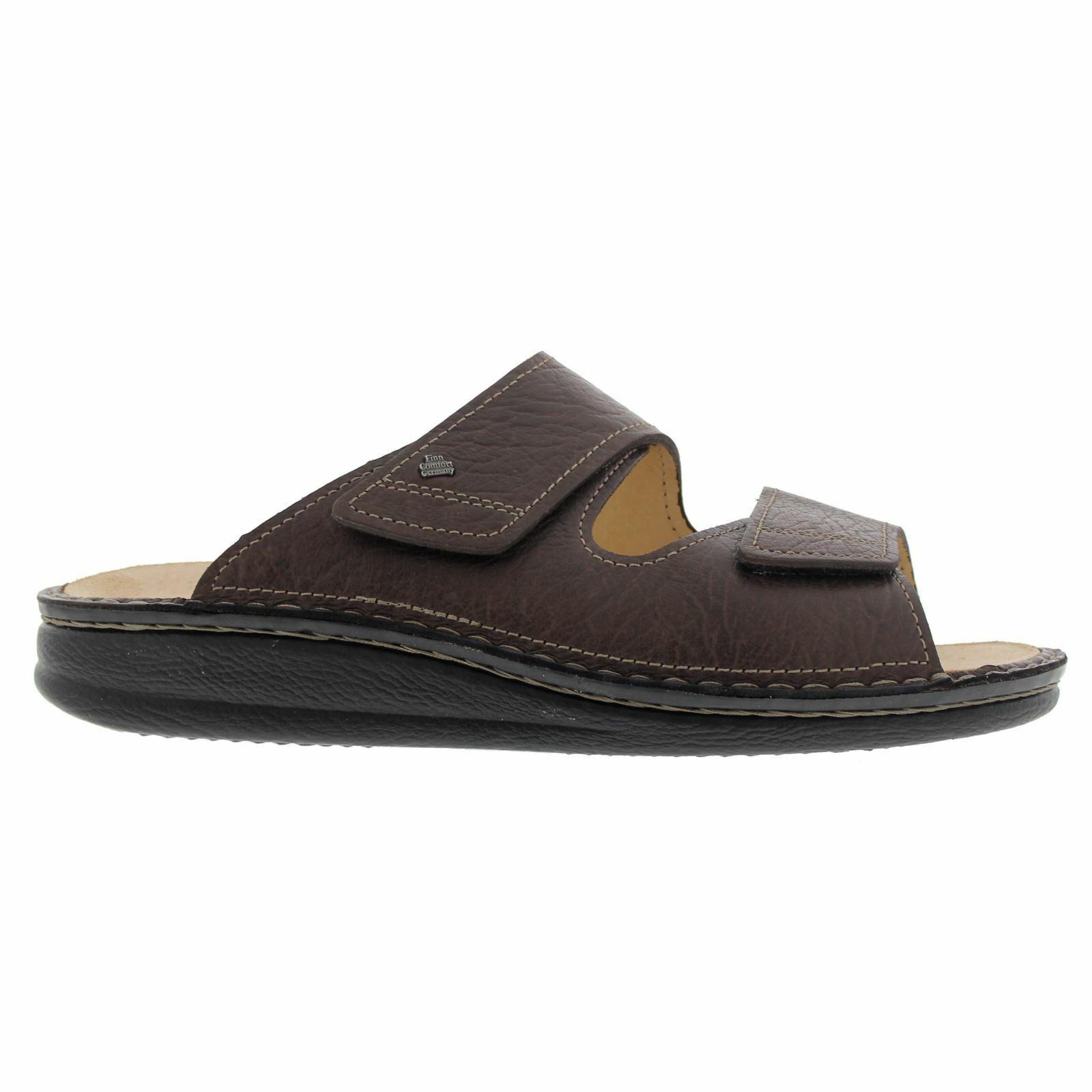 Finn Comfort Mens 1505 Riad Karbo Brown Leather Sandals