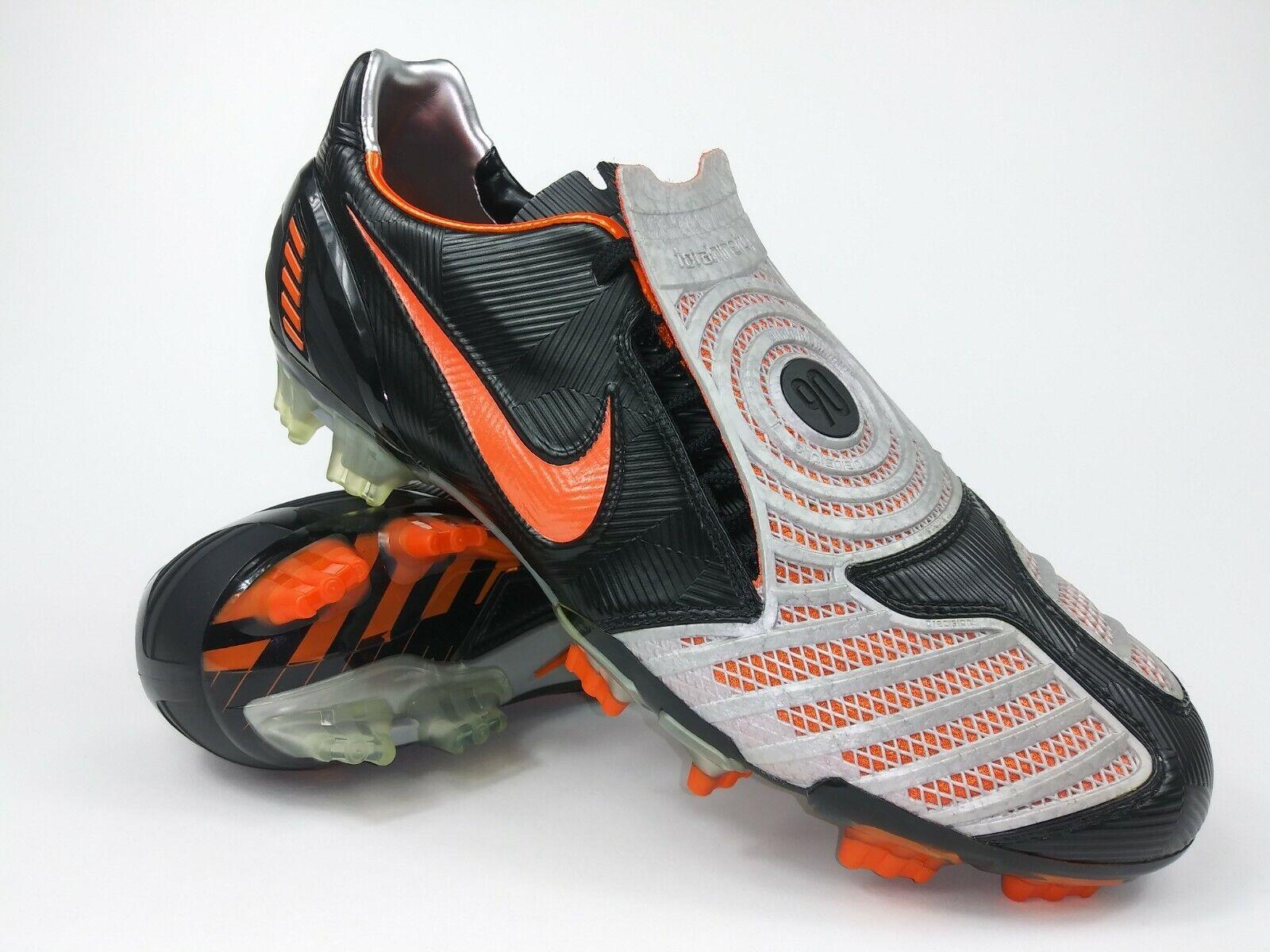 Nike Hombres Raro Total90 Laser Ll Fg 318793 081 Negro Naranja Fútbol Tacos