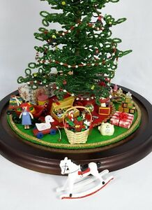 Details About For Westrim Beaded Mini Christmas Tree Under Tree Decor Rocking Horse