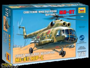 Hip-C Zvezda 7230 Mil Mi-8T Russischer Mehrzweckhubschrauber 1:72