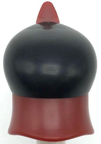 Lego New Dark Red Minifigure Headgear Large Hat Black Dome Dark Red Feather Part