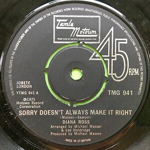 Diana-Ross-Sorry-Doesn-039-t-Always-Make-It-Right-Together-TMG-941-VG
