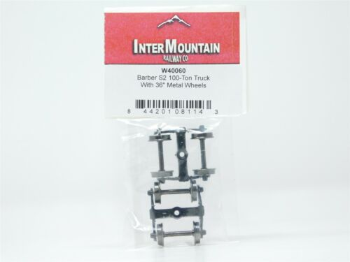 """Details about  /HO Scale InterMountain W40060 Barber S2 100-Ton Trucks w//36/"""" Metal Wheels 1 Pair"""