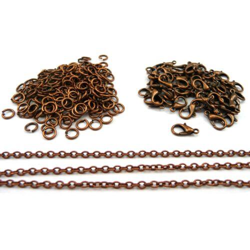 Broches Jump Anillos SD1 Los resultados de la fabricación de joyas Cadena chapado en cobre antiguo