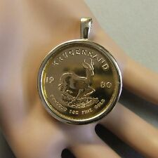 9ct gold New pendant that will fit a one Oz fine gold krugerrand bullion coin