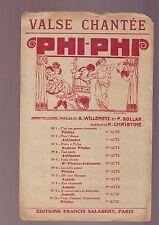 Partition Ancienne Phi Phi valse chantée - editions salabert