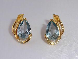 Ladies 18 Ct Yellow Gold Sterling 925 Silver 4 Ct Blue Topaz amp Sapphire Earrings - <span itemprop='availableAtOrFrom'>Bury St Edmunds, Suffolk, United Kingdom</span> - Returns accepted Most purchases from business sellers are protected by the Consumer Contract Regulations 2013 which give you the right to cancel the purchase within 14 da - Bury St Edmunds, Suffolk, United Kingdom