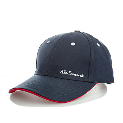 Ben Sherman Mens Ash 6 Panel Cap in Navy - One Size