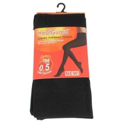 Ladies Black Heat Guard Thermal Tights 140 Denier  SK299