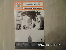 CARTE FICHE CINEMA 1974 UN HOMME QUI DORT Jacques Spiesser Ludmila Mikael