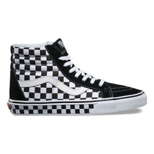 Details about Vans - SK8 Hi Reissue | Mens Skate Shoes | Black / White / Checkerboard